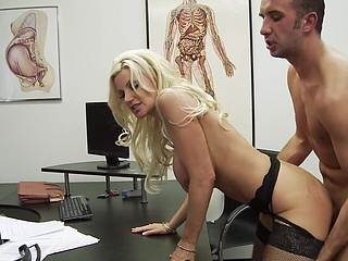 Dr. Andrews is nobody's fool. Heck, this babe's a doctor! But when Keiran Lee walks into her practice with a bit of, ahem, large trouble, this babe throws caution to the wind and gives a decision to literally sink her teeth into the problem. Is Keiran's wang really too large for a fucking-rubber? Dr. Andrews gets to the bottom of it and, as usual, urges paramours everywhere (no concern how large) to wrap their tool in advance of sex.