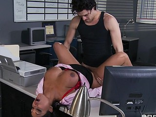 Priya and Xander are one as well as the other fighting for the same position at Glubbert Financial. The One And The Other are equally qualified, equally ambitious and thus, equally recoil each other as result. In a battle of wits, billibongs and dicks the two proceed to fuck each others brains out all over the office in order to settle the score, one time and for all. Who will come out triumphant?